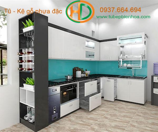 mẫu tủ bếp nhựa đặc cao cấp biên hòa hd10