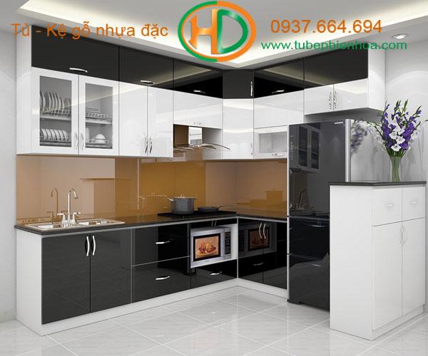 mẫu tủ bếp nhựa đặc cao cấp biên hòa hd5