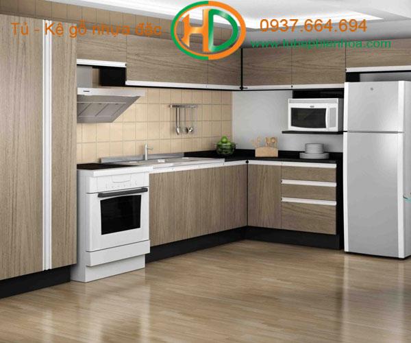 mẫu tủ bếp nhựa đặc cao cấp biên hòa hd6