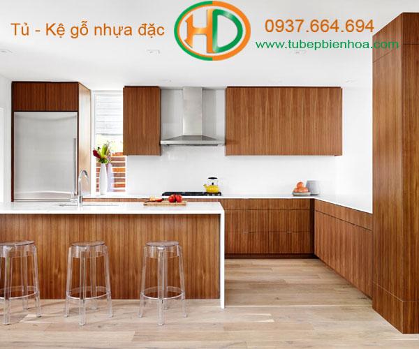 tủ bếp nhựa chữ G 5hd