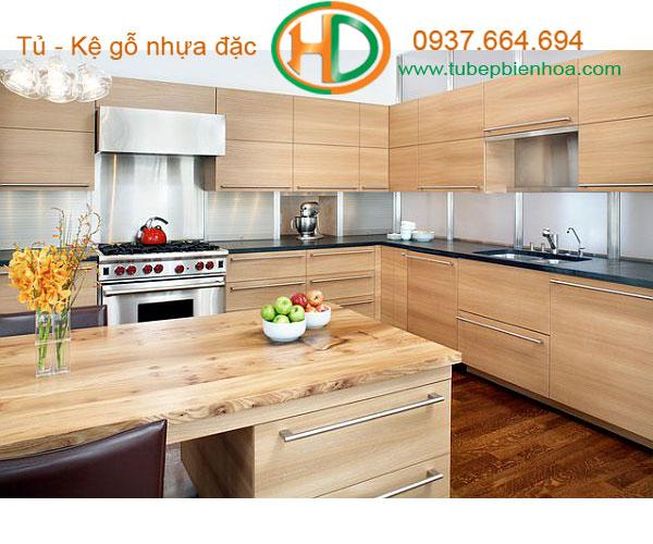 tủ bếp nhựa chữ G 6hd