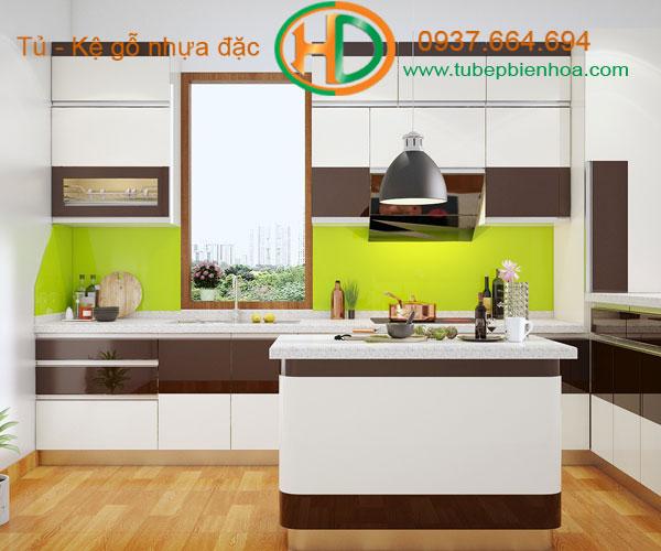 tủ bếp nhựa chữ G 7hd