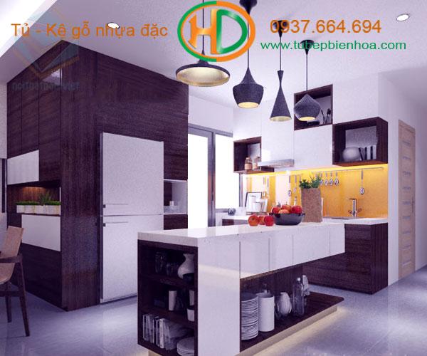 tủ bếp nhựa chữ G 8hd