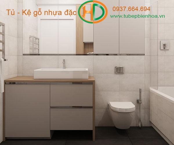 tủ phòng tắm nhựa cao cấp nhỏ một chậu lavabo 11