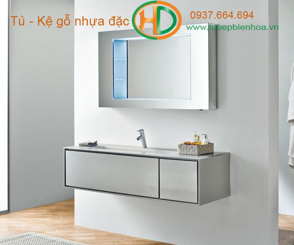 tủ phòng tắm nhựa cao cấp nhỏ một chậu lavabo 12