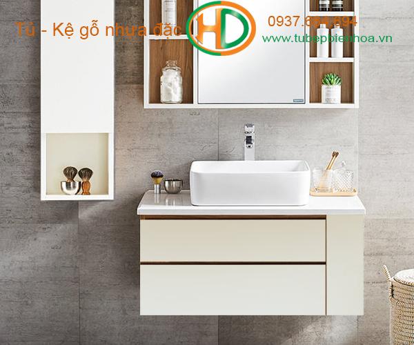 tủ phòng tắm nhựa cao cấp nhỏ một chậu lavabo 14