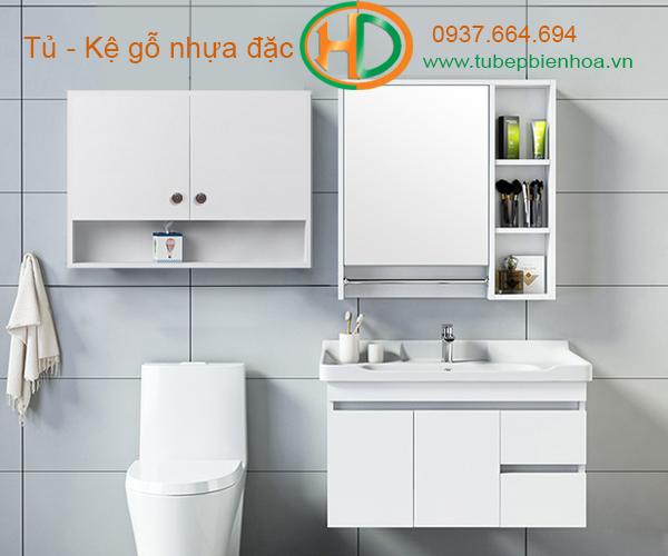 tủ phòng tắm nhựa cao cấp nhỏ một chậu lavabo 15