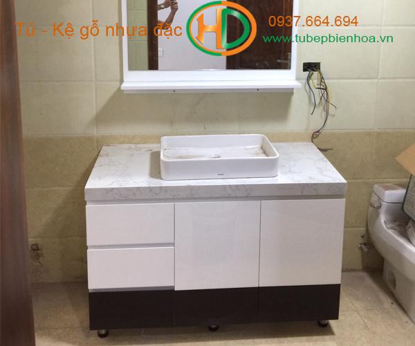 tủ phòng tắm nhựa cao cấp nhỏ một chậu lavabo 16