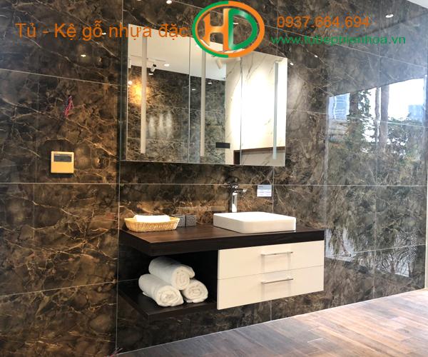 tủ phòng tắm nhựa cao cấp nhỏ một chậu lavabo 4