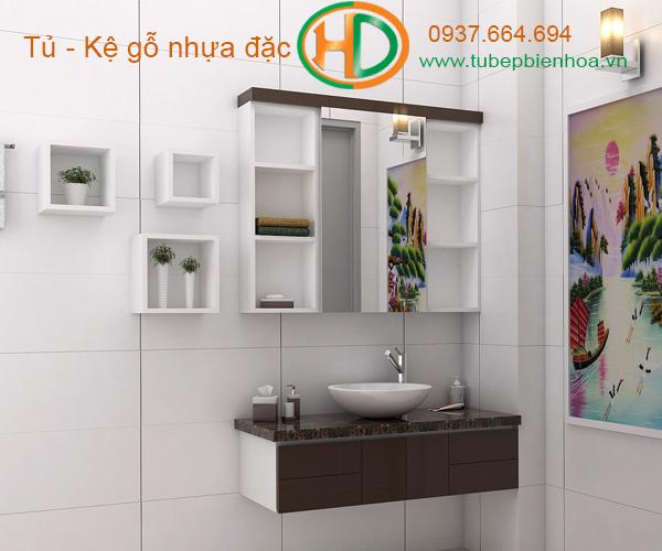 tủ phòng tắm nhựa cao cấp nhỏ một chậu lavabo 5