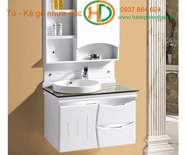tủ phòng tắm nhựa cao cấp nhỏ một chậu lavabo 7