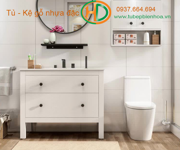 tủ phòng tắm nhựa cao cấp nhỏ một chậu lavabo 8