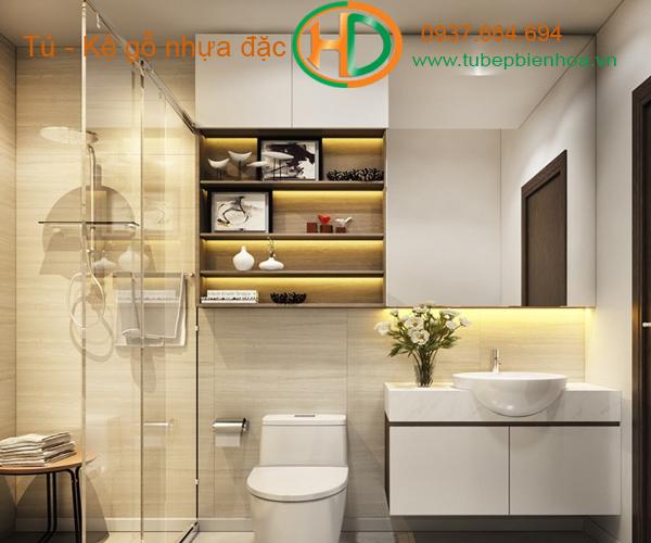 tủ phòng tắm nhựa cao cấp nhỏ một chậu lavabo 9