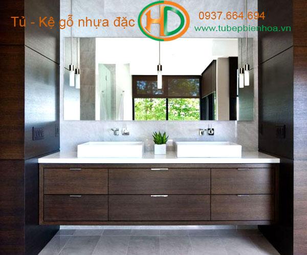 tủ phòng tắm nhựa cao cấp vân gỗ truyền thống 1