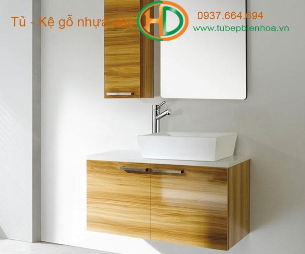 tủ phòng tắm nhựa cao cấp vân gỗ truyền thống 10