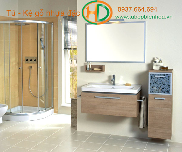 tủ phòng tắm nhựa cao cấp vân gỗ truyền thống 11