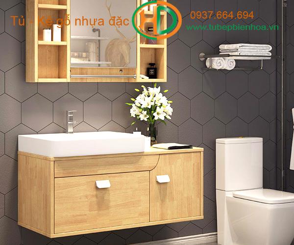 tủ phòng tắm nhựa cao cấp vân gỗ truyền thống 2