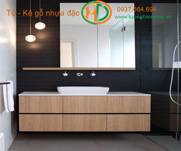 tủ phòng tắm nhựa cao cấp vân gỗ truyền thống 3