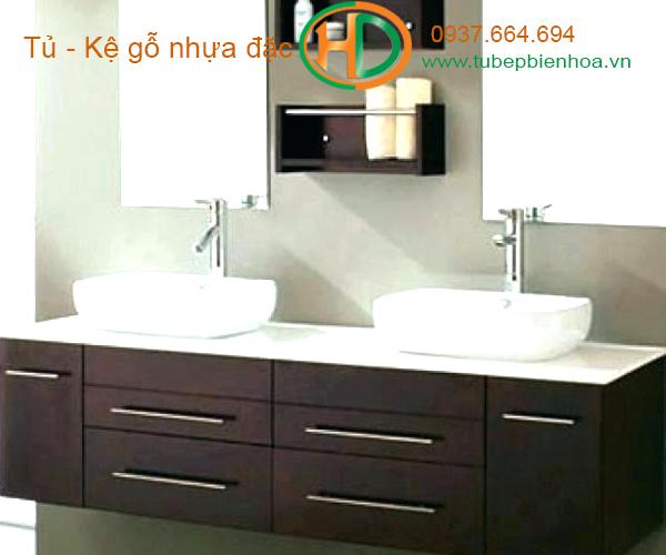tủ phòng tắm nhựa cao cấp vân gỗ truyền thống 4