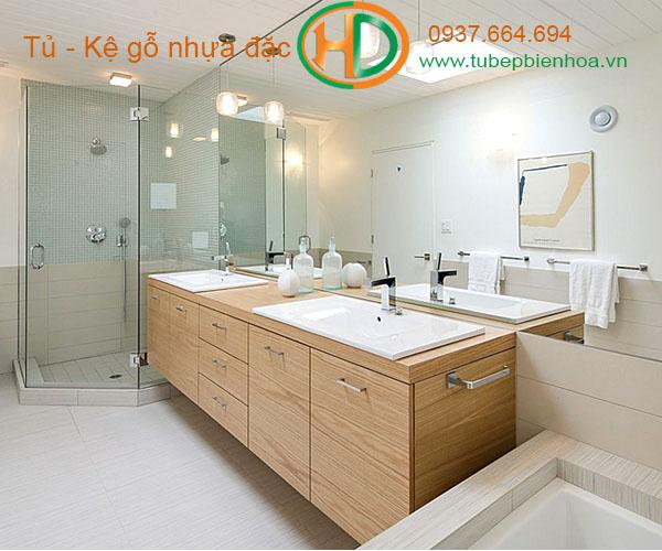 tủ phòng tắm nhựa cao cấp vân gỗ truyền thống 5