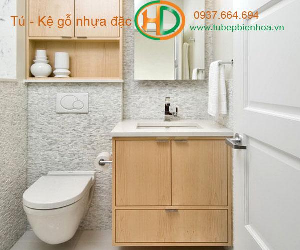 tủ phòng tắm nhựa cao cấp vân gỗ truyền thống 6
