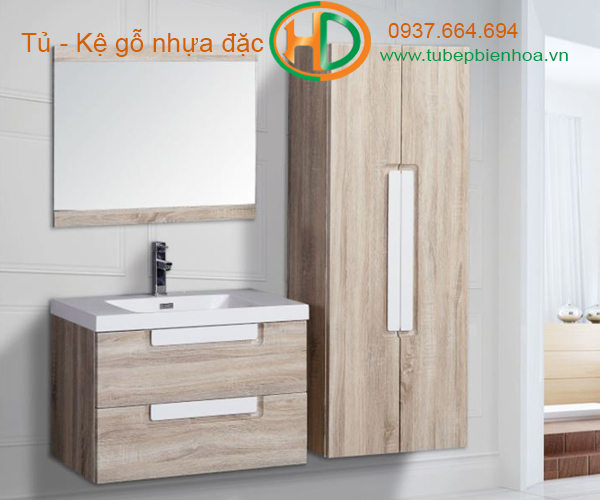 tủ phòng tắm nhựa cao cấp vân gỗ truyền thống 7