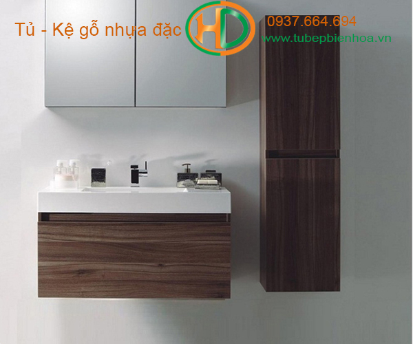 tủ phòng tắm nhựa cao cấp vân gỗ truyền thống 8