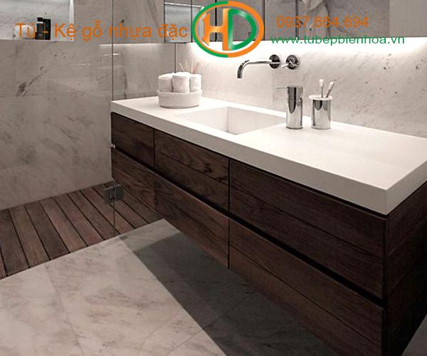 tủ phòng tắm nhựa cao cấp vân gỗ truyền thống 9