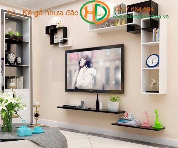 kệ trang trí treo tường phòng khách 5