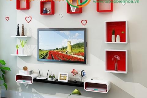Kệ nhựa trang trí treo Tivi cho phòng khách