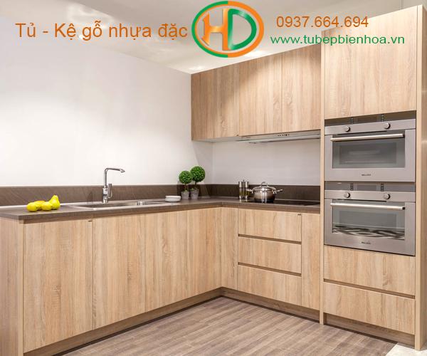 tủ bếp nhựa picomat màu vân gỗ 4
