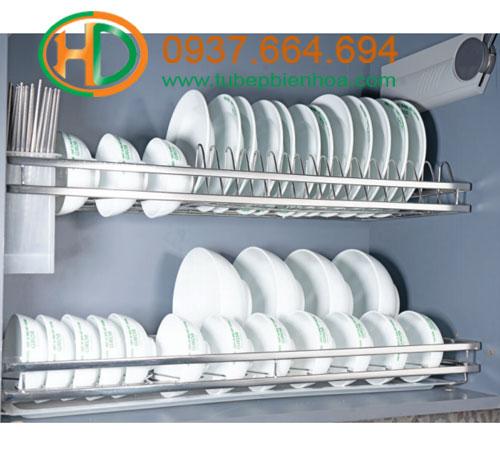 giá bát đĩa cố định nan dẹt inox sus304