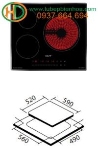 Bếp 02 từ 01 điện EGO